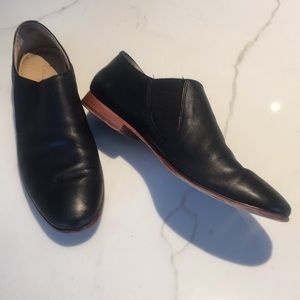 Cole Haan slip on flat leather loafer